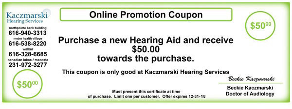 Kaczmarski Hearing Services Coupon Grand Rapids Michigan